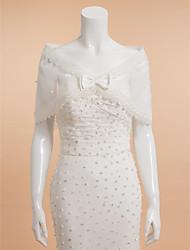 Shawls / Wedding  Wraps Shrugs Sleeveless Tulle Ivory Wedding / Party/Evening