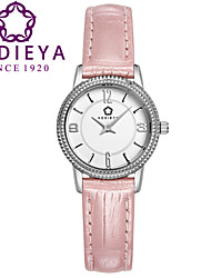 KEDIEYA Japan Quartz Pink Watch Brand Watches Women Leather Strap Fashion Pyramid Bezel Watch  Watches for Women Cool Watches Unique Watches