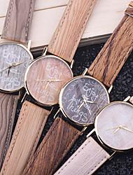 unisexe montres bois style vintage de jardin cas montre étanche à l'eau pour les femmes des hommes