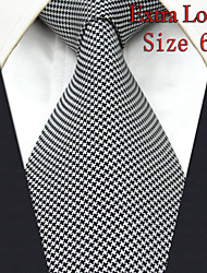 Men's Tie Checked White 100% Silk New Fashion Casual