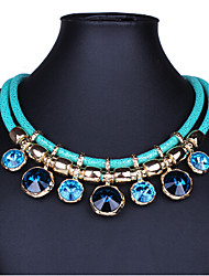 MISSING U Vintage / Party Gold Plated / Alloy / Gemstone & Crystal / Leather Statement
