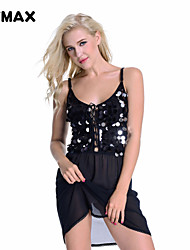 XFMAX Sexy Sassy Evening Party Cocktail Clubwear Black Sequin Mini Short Dress