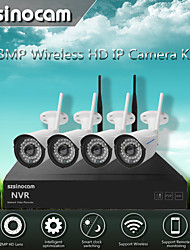 Szsinocam®Waterproof 4CH 960P 1.3MP WIFI NVR Kits,No Need To Set, You Can  The Image,Support Mobile phone P2P.