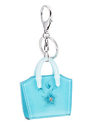 2016 Candy Color Flowers Bag Fashion Acrylic Luxury Car Key Chain Women Keyring Bag Pendant Jordan Keychain