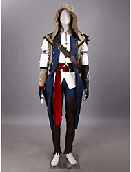 Inspiriert von Assassin's Creed Connor Video Spiel Cosplay Kostüme Cosplay Kostüme Patchwork WeißUmhang / T-Shirt-Ärmel / Hosen / Hut /
