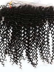 8a grado precio al por mayor pieza rizado rizado frontal del cordón del pelo humano