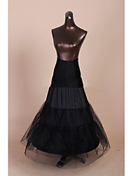 Slips Mermaid and Trumpet Gown Slip Floor-length 3 Tulle Netting / Polyester Black