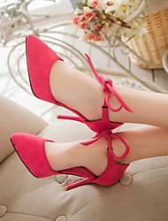 Chaussures Femme - Bureau & Travail / Habillé / Décontracté - Noir / Rouge / Gris - Talon Aiguille - Talons / Bout Pointu - Talons -