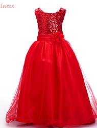 Vestido Chica de - Verano / Invierno / Primavera / Otoño - Algodón / Poliéster / Malla -Azul / Oro / Verde / Rosa / Morado / Rojo /