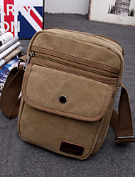 Men Canvas Messenger Shoulder Bag - Blue / Black / Khaki