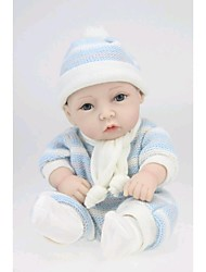 NPKDOLL Reborn Baby Doll Hard Silicone 11inch 28cm Waterproof Toy Sweater Boy