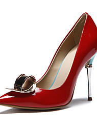 Women's Shoes Leather Spring / Summer / Fall / Winter Heels Wedding / Dress / Party & Evening Stiletto Heel Others Red