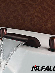 Mlfalls Brands Sanitary Fittings Brass Oil-Rubbed Bronze Waterfall Deck Mounted Bath Basin Faucets