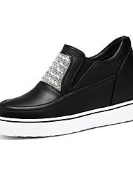 Черный / Белый-Женская обувь-Для офиса / Для праздника / На каждый день-Дерматин-На плоской подошве-Криперы-Кроссовки