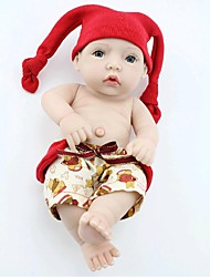 NPKDOLL Reborn Baby Doll Hard Silicone 11inch 28cm Waterproof Red Hat Boy
