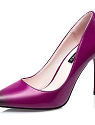 Women's Shoes Leatherette Stiletto Heel Heels Heels Wedding / Dress Black / Blue / Brown / Purple / Gray / Burgundy