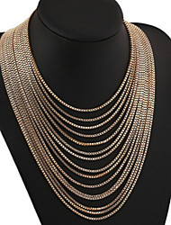MISSING U Vintage / Party Alloy Chain Long Necklace