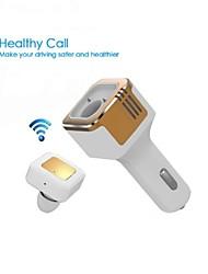 3.1a Tinpec carregador de carro Dual USB com fone de ouvido bluetooth e oxigênio bar- melhor fone de ouvido sem fio
