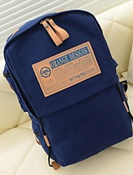 Women Canvas Bucket Backpack - Blue / Green / Red