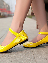 Women's Shoes Patent Leather Flat Heel Ballerina Flats Office & Career / Dress /  Yellow / Pink / Red / White / Coral