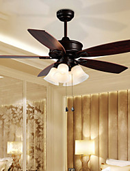 Mediterranean Europe Type Fan Light Simple Dining-Room Sitting Room 4 Light Bedroom Ceiling Fans Head Light