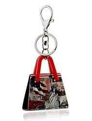 2016 porte-clés américaine statue de scène de la voiture de sac à main trousseau femmes clé de porte-anneau de bijoux de liberté Vente en