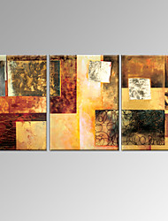VISUAL STAR®3 Panel Oil Painting Modern Handmade Stretched and Framed Wall Art Ready to Hang