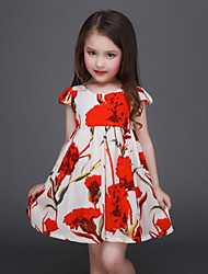 Girl's Multi-color Dress , Floral Rayon Summer / Spring / Fall