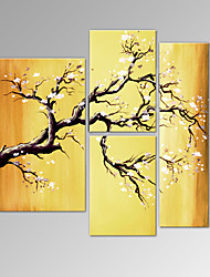 VISUAL STAR®Plum Blossom Oil Painting Modern Flower Canvas Artwork Ready to Hang