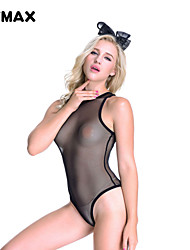 XFMAX Sensual Black Open Crotch Sexy Teddy Cosplay Lingerie Rabbit Dress One Size