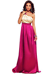 Women's Gorgeous One Shoulder Maxi Prom Dress