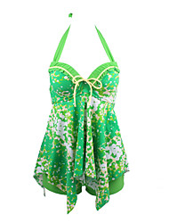 Women's Shaping Body Colorful Swimdress Swimsuits Swimwear