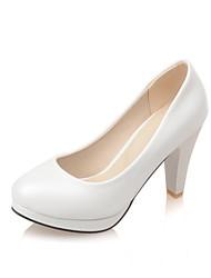 Women's Shoes Leatherette Cone Heel Heels / Platform / Round Toe Heels Office & Career / Dress / Casual Black