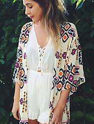 Robes Légères Aux femmes Géometrique Une-Pièce Bandeau Polyester