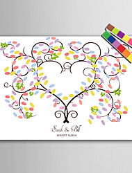 E-HOME® Personalized Fingerprint Painting Canvas Prints - Color Tree (Includes 12 Ink FColors)