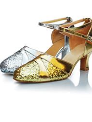 Non Customizable Women's Dance Shoes Latin / Jazz / Modern / Dance Shoes Accessories Paillette Low Heel Silver / Gold