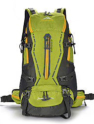 Unisex Nylon Bucket Backpack - Green / Red / Black