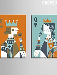 Personnage / Fantaisie Toile Deux Panneaux Prêt à accrocher , Format Vertical