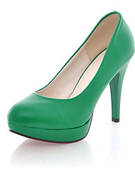 Women's Shoes Leatherette Stiletto Heel Heels / Platform Heels Office & Career / Dress / Casual Black / Yellow / Green