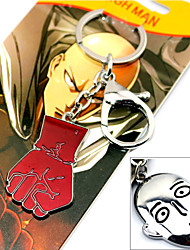 Cosplay Accessories Inspired by One Punch Man Cosplay Anime Cosplay Accessories Keychain Red / Silver Alloy Male