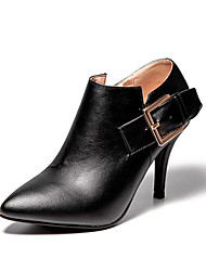 Women's Boots Stiletto Heel Ankle Boots with Zip/Pointed Toe Boots Office & Career/Party & Evening/Dress Black/Gray