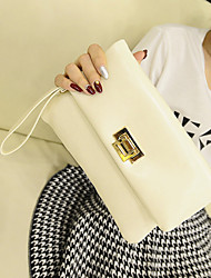 Damen PU / Oxford Tuch Abendtasche Weiß / Schwarz