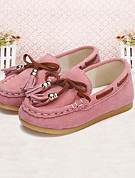 Baby Shoes Wedding / Outdoor / Casual Suede Flats Pink / Gray