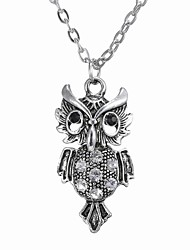 European And American Fashion Jewelry Personality Owl Pendant Necklace
