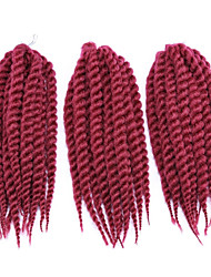 African Black Hair Hand Rub Torsional Braid Rope Twist Braid Purplish Red  Bulk Buy 1-12packs