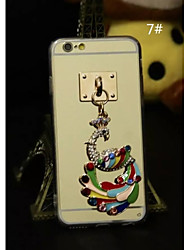 Charm Pendants With Plating TPU Back Case For Iphone6 plus,6S plus(5#~8#)(Assorted Color)