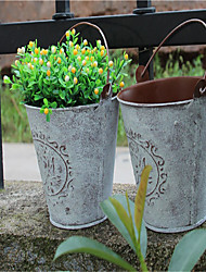 fazer a decoração do casamento da flor de metal vaso de flor de mobiliário doméstico tambor retro tambor velho