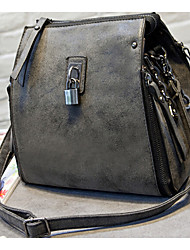 Women PU Shoulder Bag Purple / Green / Gray