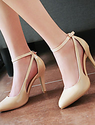 Women's Shoes Heel Heels / Pointed Toe Heels Office & Career / Dress / Casual Black / Pink / Red / White / Gray/22-1