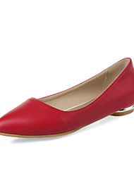 Women's Spring Summer Fall Leatherette Outdoor Office & Career Casual Low Heel Black Green Pink Red